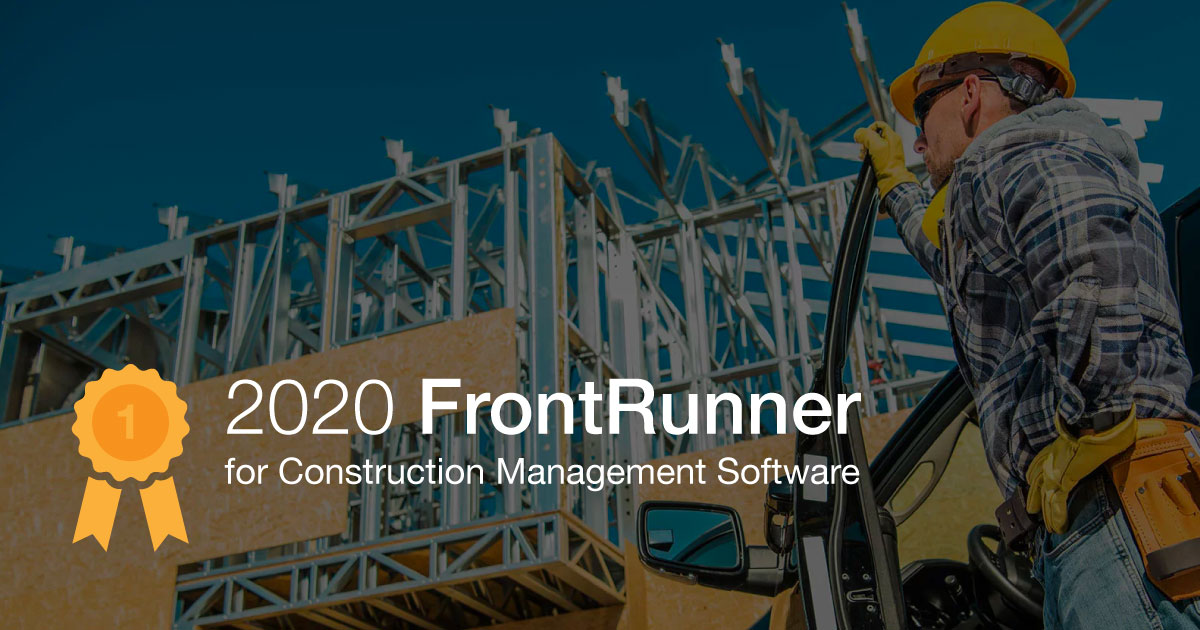 ConstructionOnline Named as Frontrunner for Construction Management Software