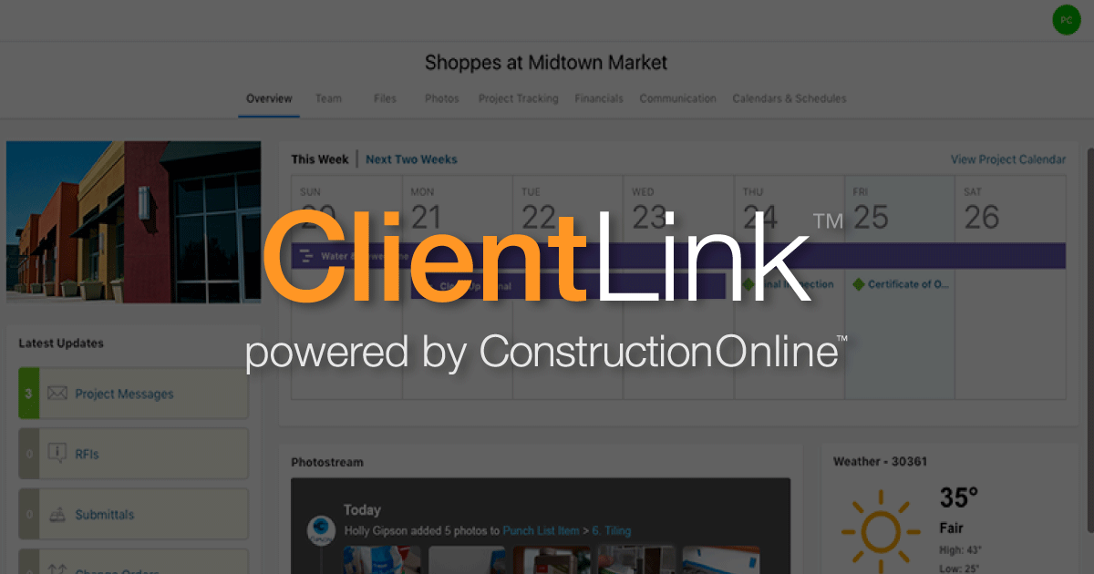 Build Successful Client Relationships with ConstructionOnline Client Portals