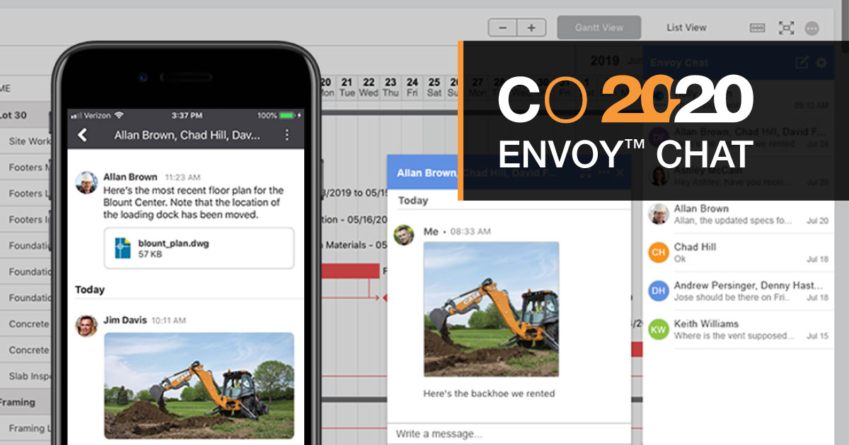 Exclusive Pre-Release: New Envoy™ Chat for ConstructionOnline™ 2020