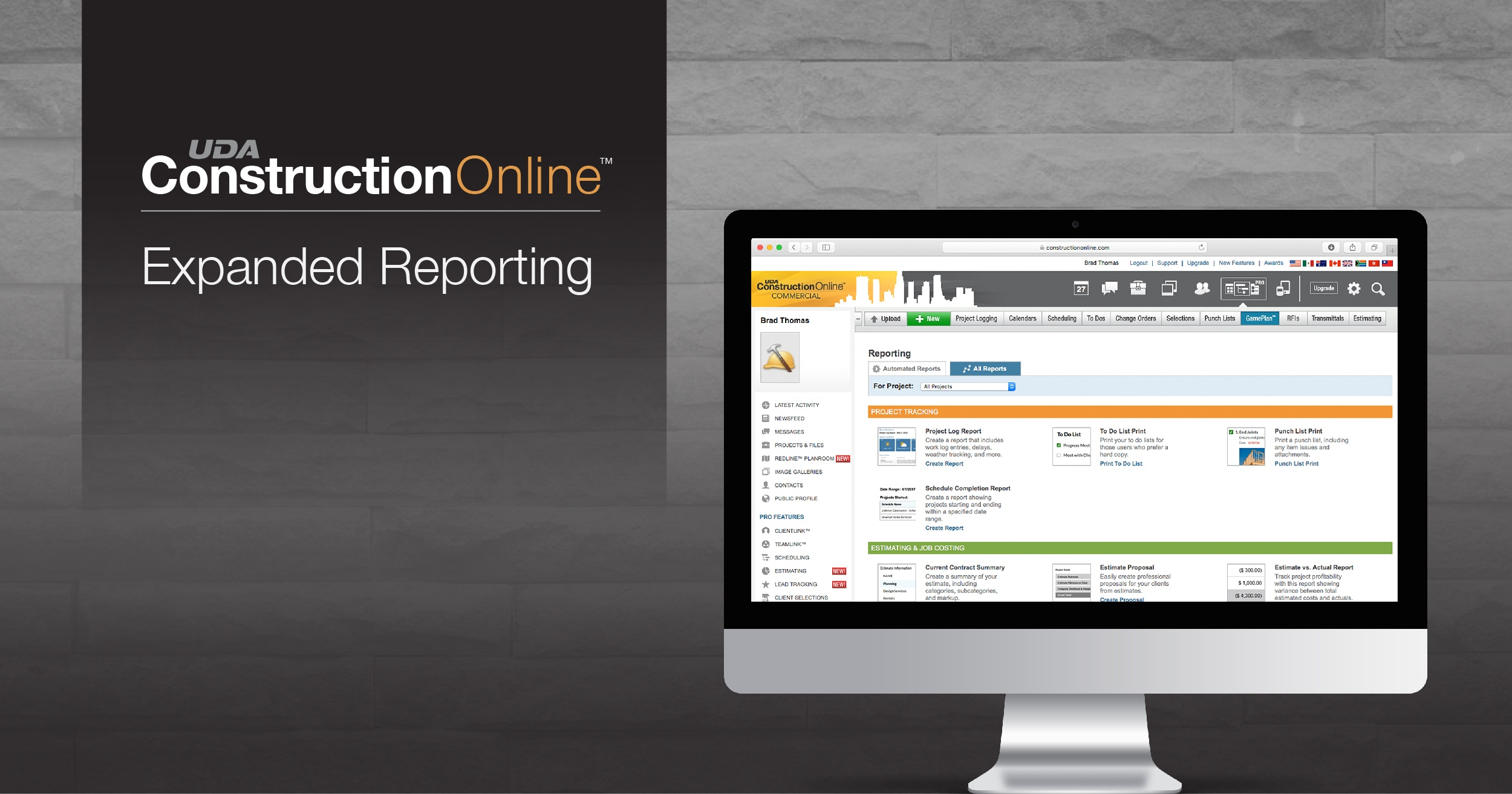 UDA Technologies Releases Expanded Reporting in ConstructionOnline