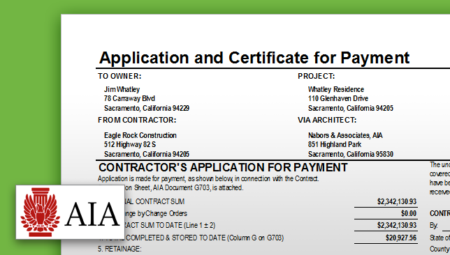 New for ConstructionOnline: AIA Payment Applications