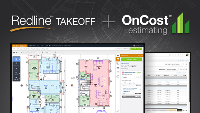 Introducing the Dynamic Duo: Integration Announced for Redline™ Takeoff + OnCost™ Estimating